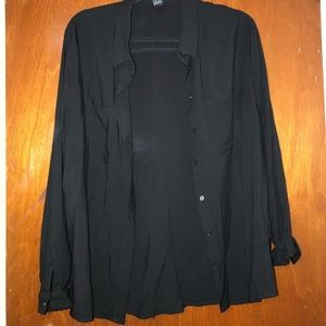 🌸 2 for $25 🌸 Black Long Sleeve Button Up NWOT